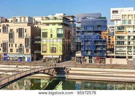 The Confluence District In Lyon, France