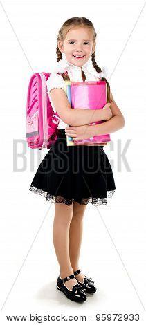 Portrait Of Smiling Schoolgirl With Backpack