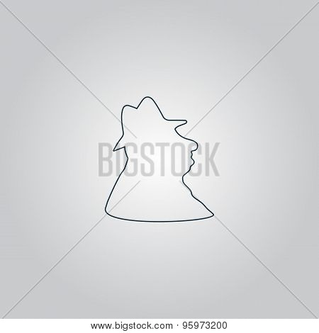 Man profile in hat icon