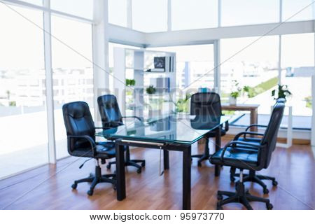 Meeting room with back swivel chair in office