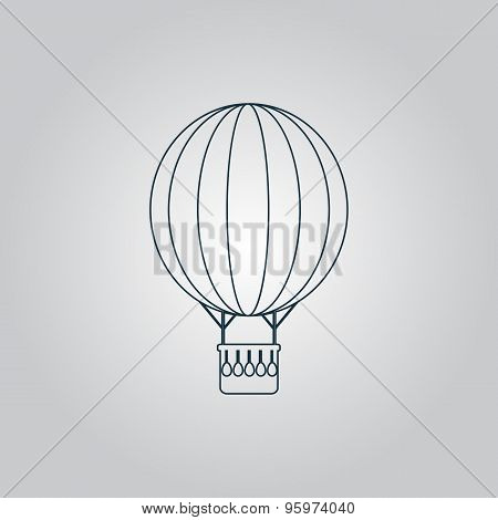 Balloon journey, web icon, sign and button