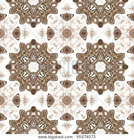 Seamless Kaleidoscope Texture Or Pattern On White