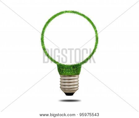 Green Grass Light Bulb. Concept Of Green Energy