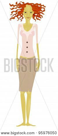 illustration of woman with dress