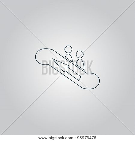 icon of elevator symbol, Vector