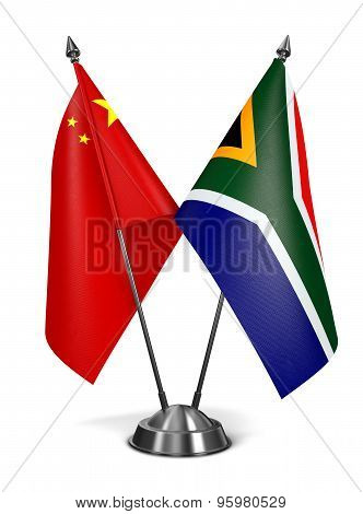 China and South Africa - Miniature Flags.