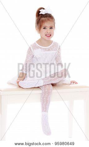 Delicate little blonde girl
