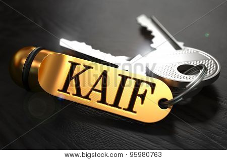Keys with Word Kaif  on Golden Label.
