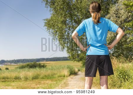 Jogger Man Standing