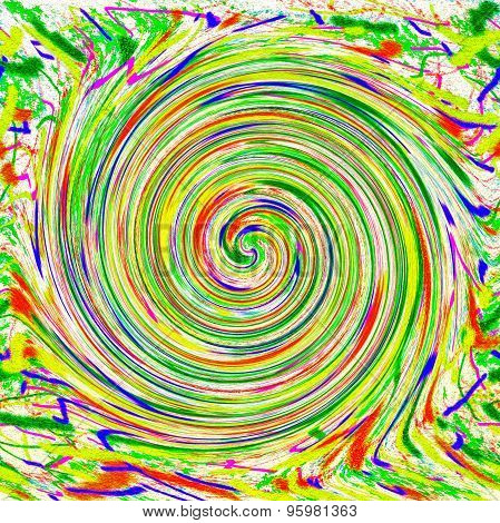 Abstract painting colorful spiral