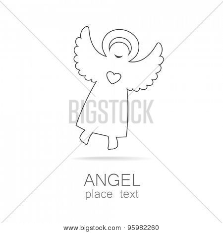 Angel - symbol of love, hope, care, Christmas.