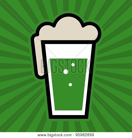 Green Pint Glass