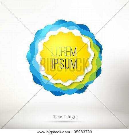 Sun, Sea And Nature Logo Concept