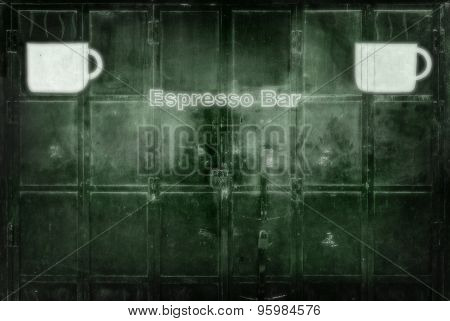 Closed Metal Door With Lock  Blur Abstract Background