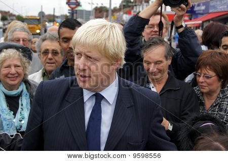 London Mayor Boris Johnson At The Reopening Of Gants Hill Roundabout In Gants Hill In London 1Soctob