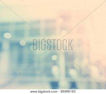 Blurred Blue Bokeh Modern Exterior Background