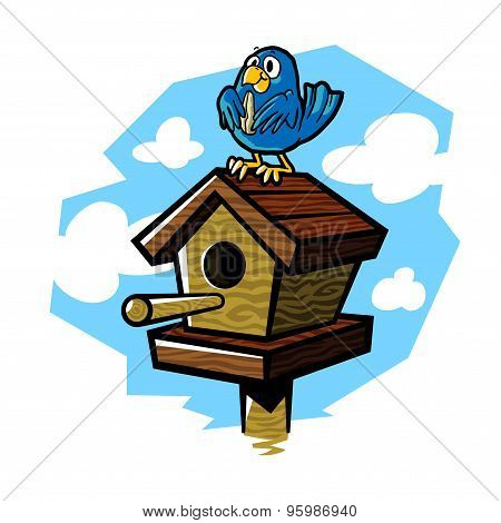 Cartoon birdhouse
