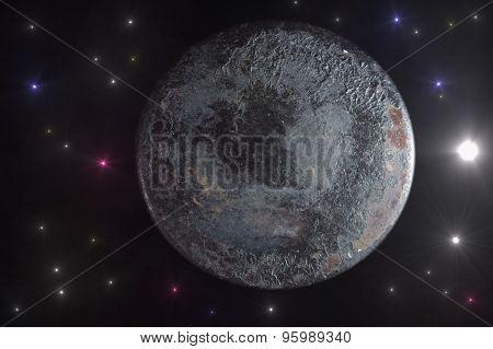 The alien planet.