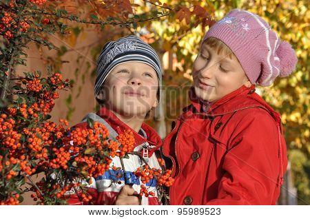 A boy with a girl