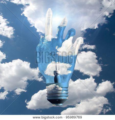 Hand Light Bulb