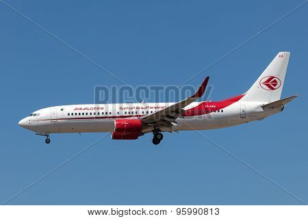 Boeing 737-800 Aircraft Of The Air Algerie