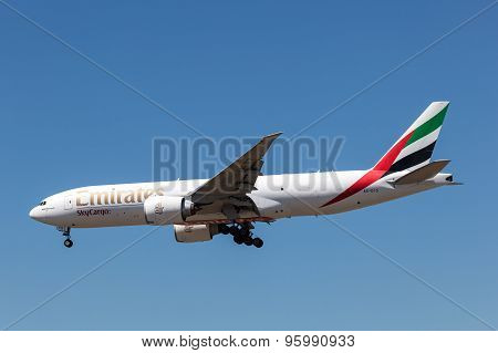 Boeing 777F Cargo Aircraft Of Emirates Airline