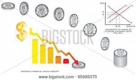 Dollar Coins Falling