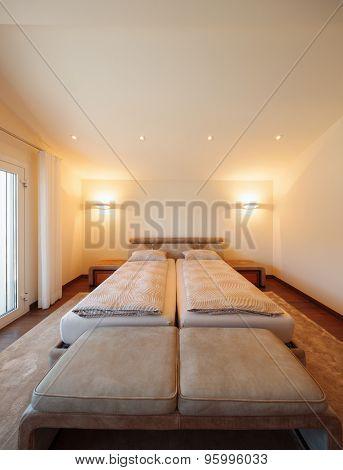 Architettura di interni, camera da letto, nobody inside