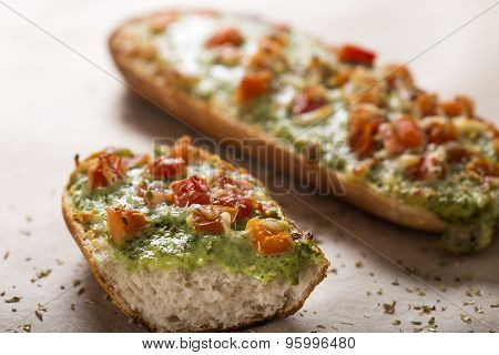 Baguettes With Pesto
