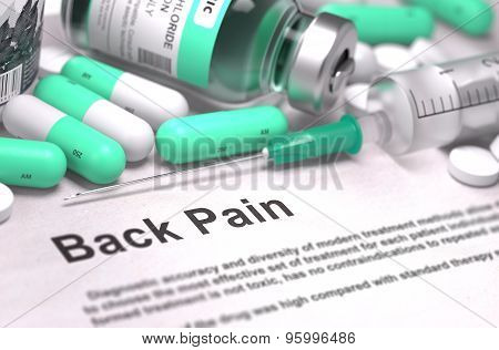 Back Pain. Medical Concept.