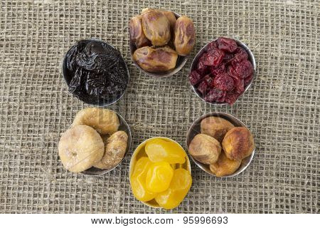 Abstract View Of The Dried Fruit