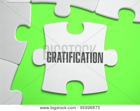 Gratification - Jigsaw Puzzle with Missing Pieces.