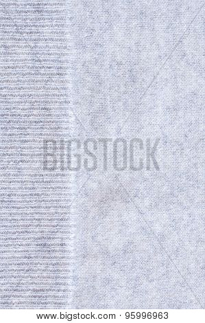 Close Up Of Gray Wrinkled Cashmere Texture