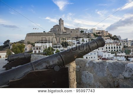 Cannons In Ibiza, Spain