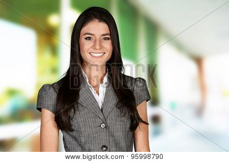 Business woman at the office ready to work