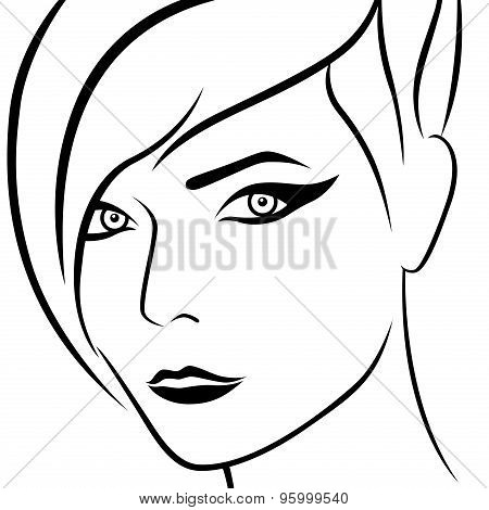 Abstract Female Beautiful Head