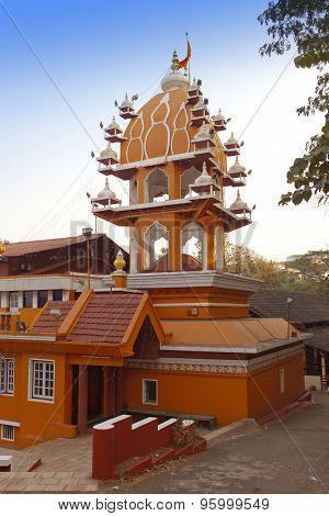 India. Goa. Hanuman temple in a sunny day