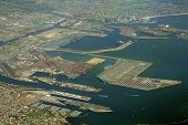 stock photo of long beach  - long beach port and cargo terminal california - JPG