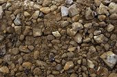 stock photo of sand gravel  - wet sand and dirty gravel mixture backgrounds natural - JPG