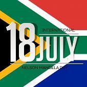 pic of nelson mandela  - illustration of a stylish text for International Nelson Mandela Day - JPG