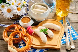 foto of pretzels  - Traditional Bavarian meal - JPG