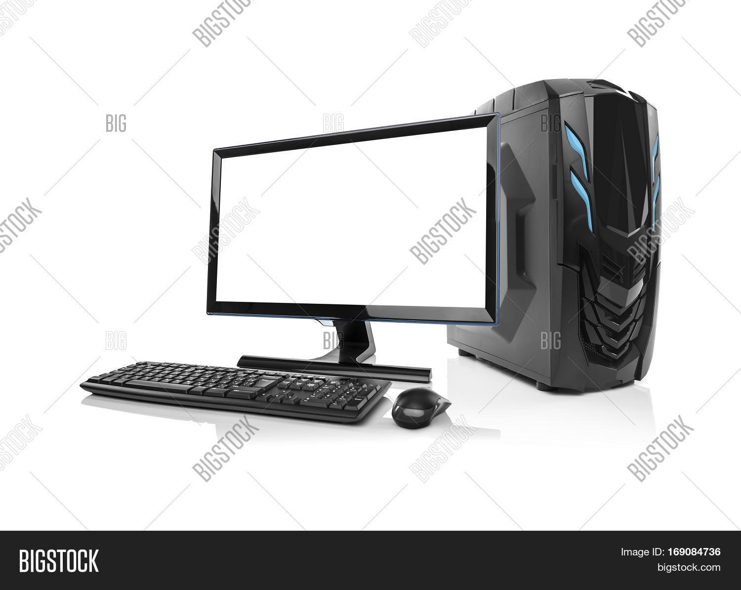 Modern Desktop Pc Computer Isolated On A White Background