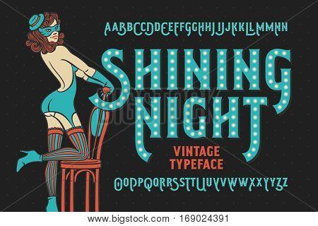 Vintage cabaret style