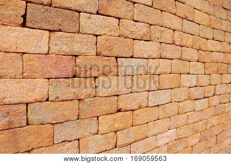 Red brick wall background, Decoration in Asia