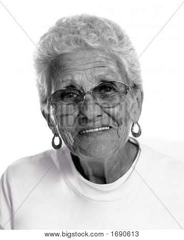 Aged Elderly Woman Smiling