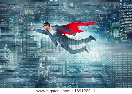 Businessman in superhero concept with