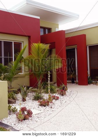 Red Rendered House