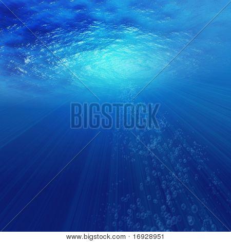 Постер, плакат: Посмотрите из бездны моря, холст на подрамнике