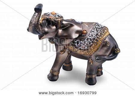 Plastic elephant figurine