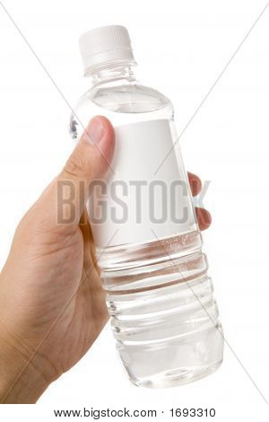 Holding A Bottle Water